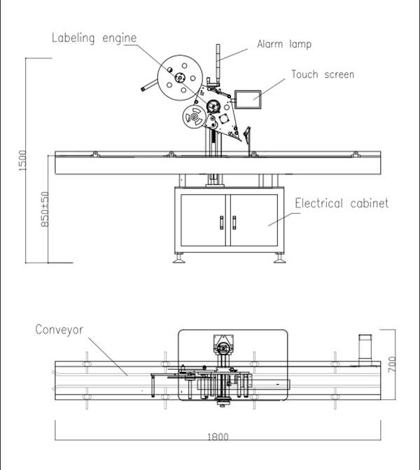 Automatic Flat Top Self-Adhesive Labeling Machine