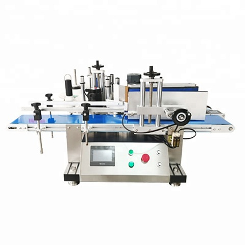 Automatic round disinfectant hand sanitizer bottle labeling machine...