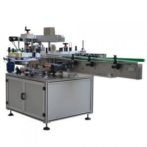 Auto Bottle Sticker Labeling Machine Feeding Collection Turntable