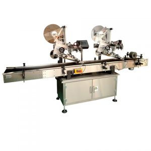 Plastic Top Sides Cans Self Adhesive Labeling Machine