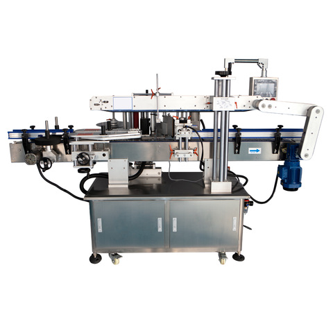 Round glass plastic bottles wet glue labeling machine linear cold...