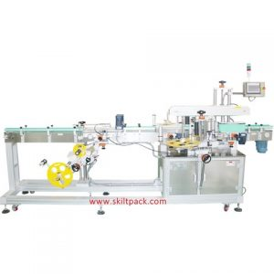 Flat Round Bottle Two Sticker Bottle Labeling Machine