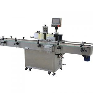 Herbal Products Bottle Labeling Machine With Feeding Table