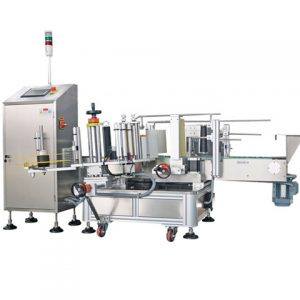 Auto Flat Oval Bottle Two Sides Labeling Machine