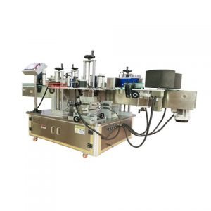 Automatic Plastic Container Top Side Labeling Machine