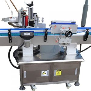 Automatic Adhesive Sticker Labeller Machinery Under Double Heads