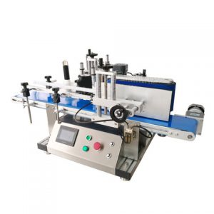 Caned Food Container Top Label Pasting Machine