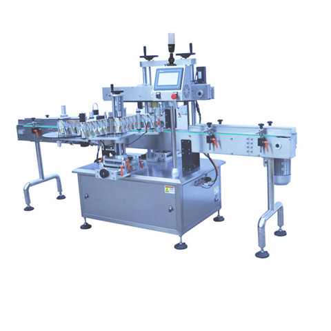 automatic plastic pouch bag labeling machine
