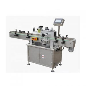 Round Bottle Top And Side Labeling Machine