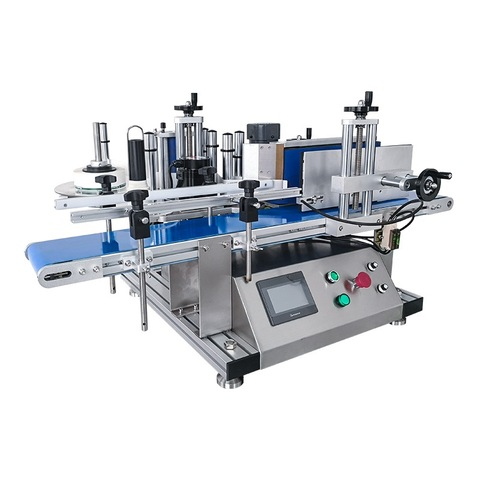 Vertical wine labeling machine automatic with round turntable bottle...