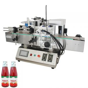 Feeding Plastic Bags Labeling Machine