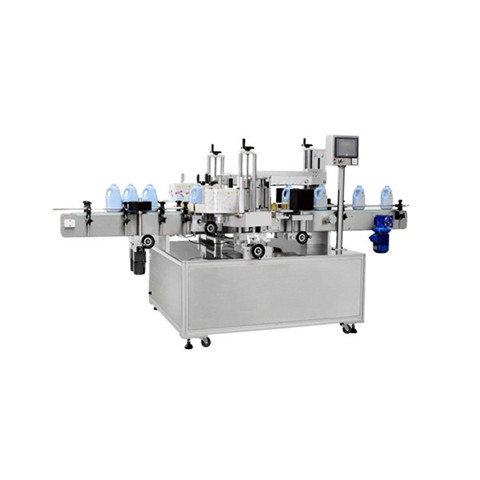 Filling capping labeling fully automatic line small bottles lab use liquid...