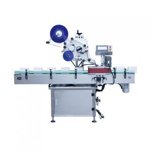 Syrup Flat Bottle Labeling Machine In