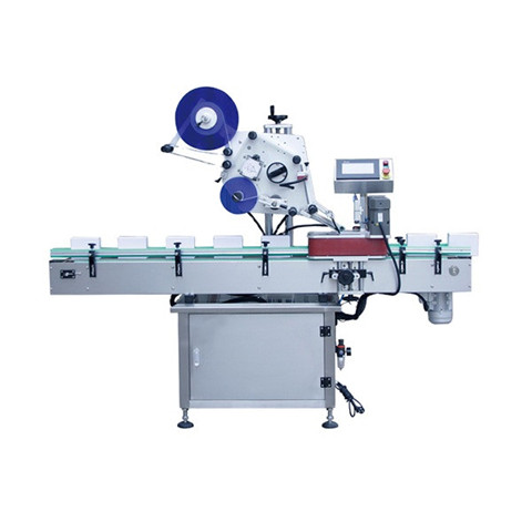 Automatic double side labeling machine for both flat and round...