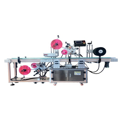 T11600 Automatic turn corner sticker labeling machine carton...