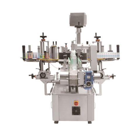 Linear cold glue labelling machine. CARTONPACK