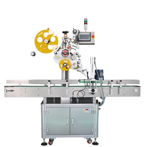 Flat labeling machine semi automatic with PLC touch screen manual...