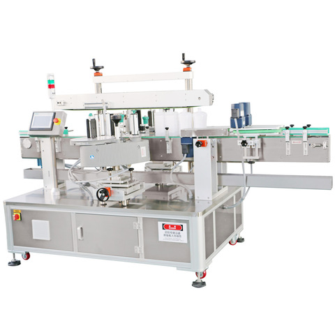 Double sides Sticker Labeling Machine for Shampoo Oval Bottle