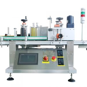 Automatic Double Side Pasting Flat Bottle Labeling Machine