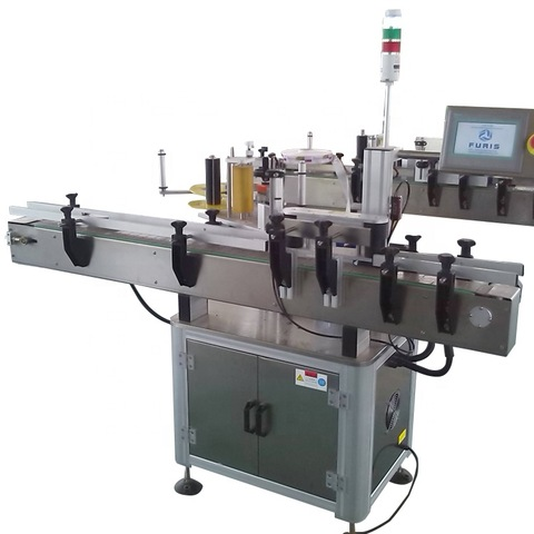 labeling machine, automatic flat bottle labeling machine, with round...