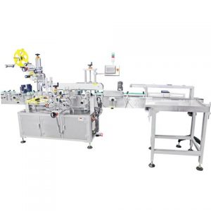 Plastic Bags Labeling Machine With Feeder Device China