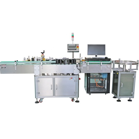bench top labeling machine for three sides adhesive sticker label...