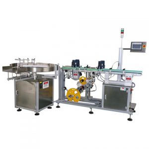 Flat Bottles Cap Top Labeling Machine