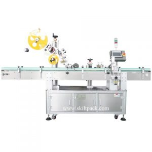 Top Side Automatic Coffee Bag Labeler Labeling Machine